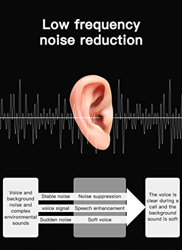 Digital Hearing Amplifier Noise-Cancelling CIC Ear Amplifier Invisible Voice Sound Amplifiers Elderly Listening Aid Cleaning Tools Included,for Seniors Adults (RED(Right))