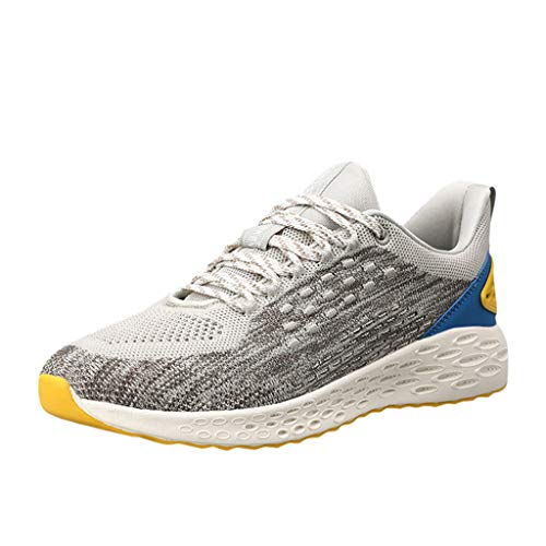 - iHPH7 Shoes Running Air Cushion Trail Fashion Sneakers Lightweight Tennis Sport Casual Walking Athletic Outdoor Comfortable Breathable Walking Mens (44,Gray)