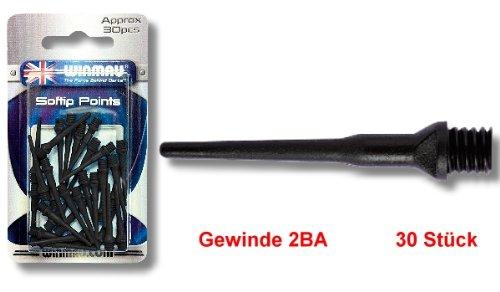 Softspitzen Winmau schwarz 30 St/ück 2BA Blister Die neue Dartspitze aus dem Hause Winmau wird aus einer sehr hochwertigen Kunststoffmischung produziert.