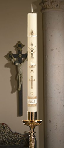 No 4 Special Ornamented Paschal Candle 51% Beeswax 2'' X 36''