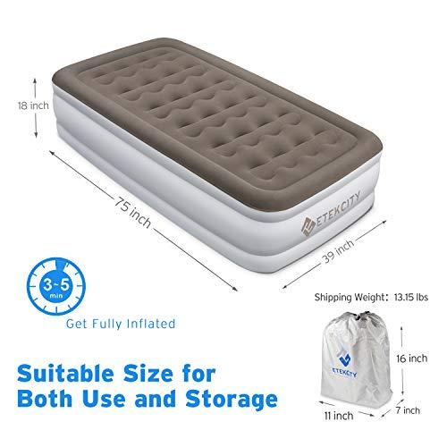 Etekcity Queen Size Air Mattress Blow Up Bed Inflatable