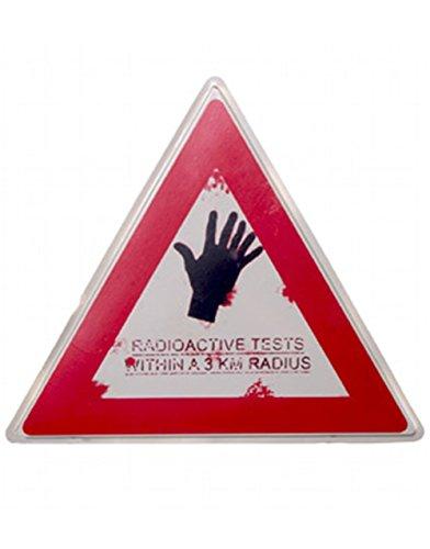 Morbid Enterprises Radioactive Tests Zombie Warning 19x16 Halloween Decoration Sign -