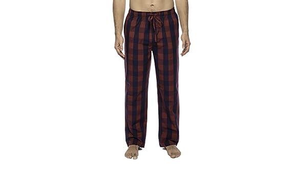 Noble Mount Twin Boat Pantalon Pijama de Algodón - Gingham Rosso/Azul Marino - 3XL: Amazon.es: Ropa y accesorios