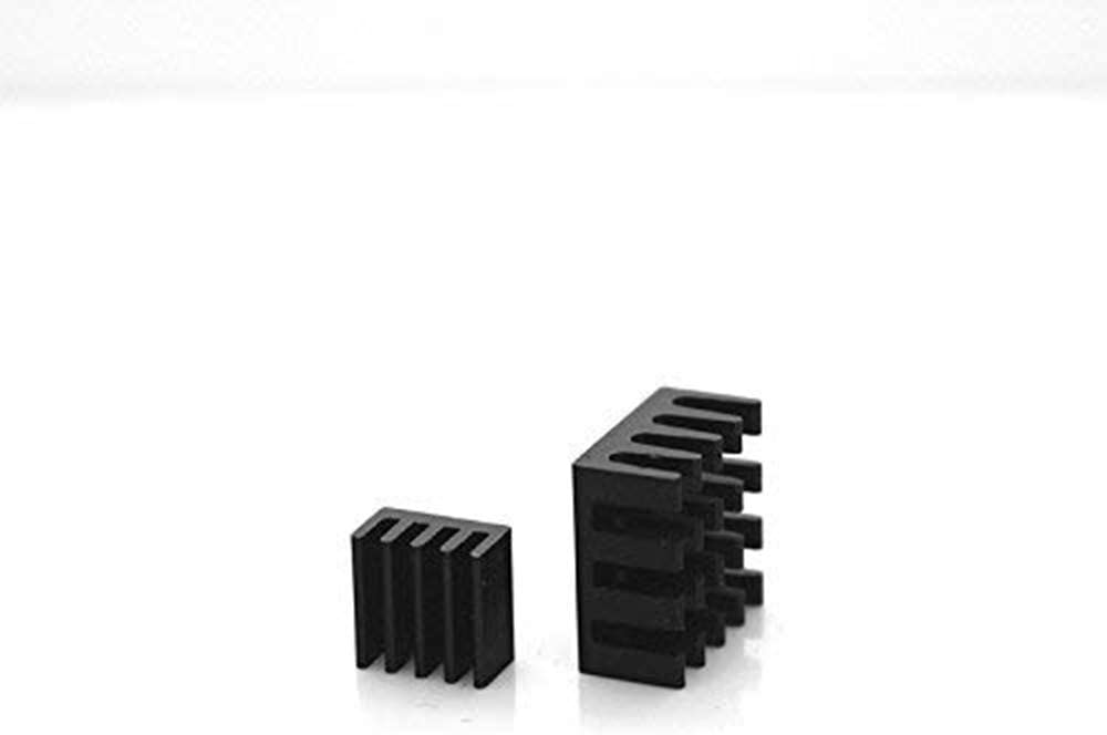 Pi 2 Sohapy 4 Sets//8pcs Anodized Black Aluminum Heatsink Cooling Radiator Cooler for Raspberry Pi 3 Pi Model B+