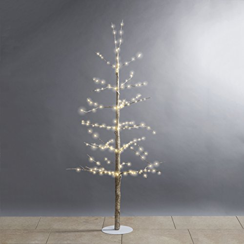 4 Ft. Pre-Lit Gold Glitter Holiday Tree with 228 Warm White Sparkling LEDs | Indoor Use, Plugin, Christmas Decor, UL Listed