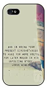 iPhone 5 / 5s Bible Verse - God is using your present circumstances to make you more useful for later roles - black plastic case / Verses, Inspirational and Motivational by icecream design