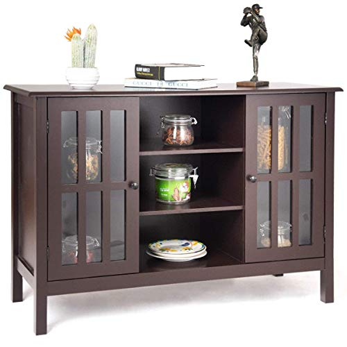 Amazon.com: Tangkula Wood TV Stand Storage Console Free
