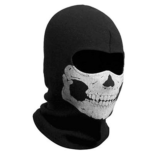 (ZZoo Cotton Ghost Mask Skull Heads Warm Scarf Outdoor Cycling Dust Mask Halloween Cosplay Costume)