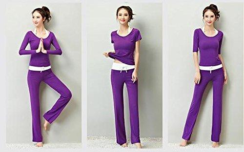 Violet vêtements de Sport pour Femmes Confortables vêtements de Yoga Costume Plus de Couleurs XL