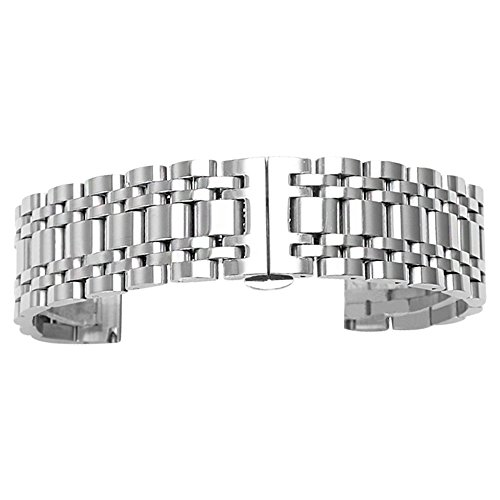 el Watch Band Watch Strap 20mm Wristband Bracelet with Butterfly Buckle Clasp ()