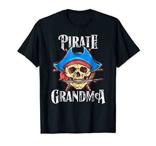 Pirate Grandma Shirt, Matching Halloween Family -