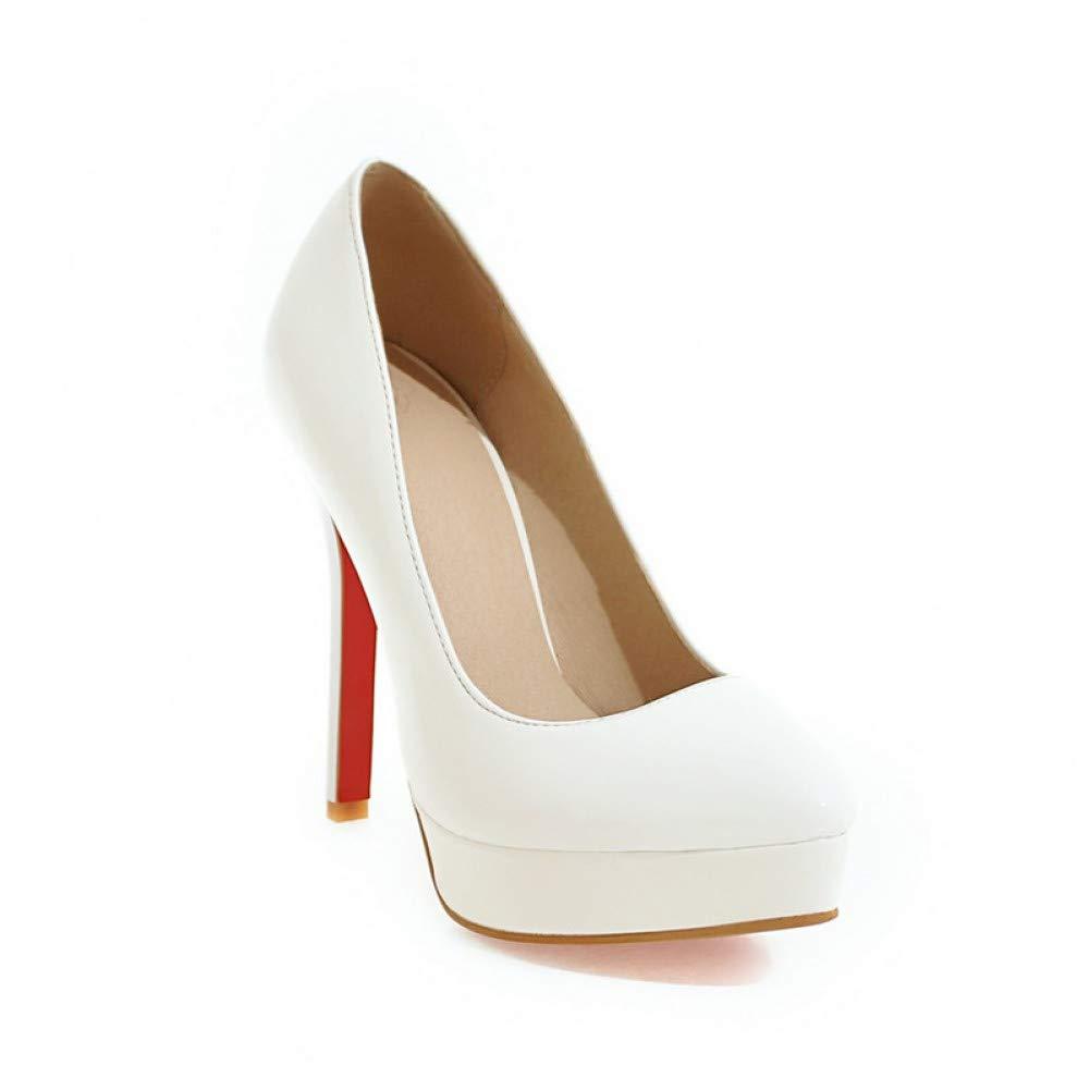 Ai Ya-liangxie Frühling Herbst Feste Flache Pumps Schuhe Frau Plus Größe 30-48 Platforl Ol Super High Heels Damen Schuhe
