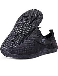 JIASUQI Mens Womens Water Athletics Shoes Quick Dry Aqua Barefoot Beach Swim Surf Diving Shoes