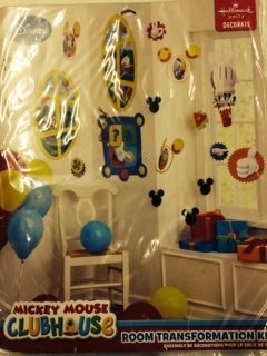1 X Mickey Mouse Clubhouse Room Transformation Kit by Hallmark -