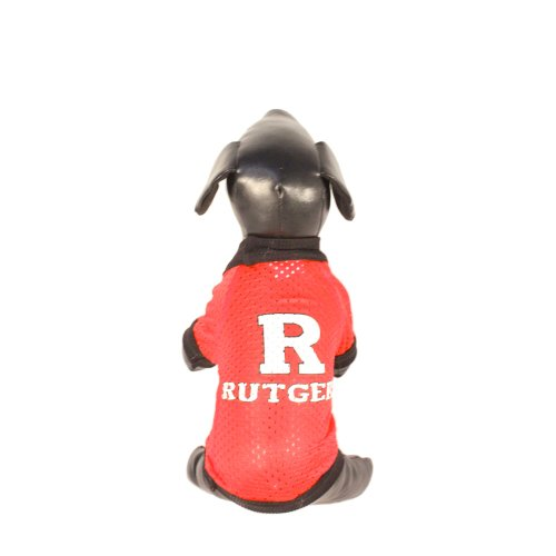 NCAA Rutgers Scarlet Knights Athletic Mesh Dog Jersey (Team Color, Large)