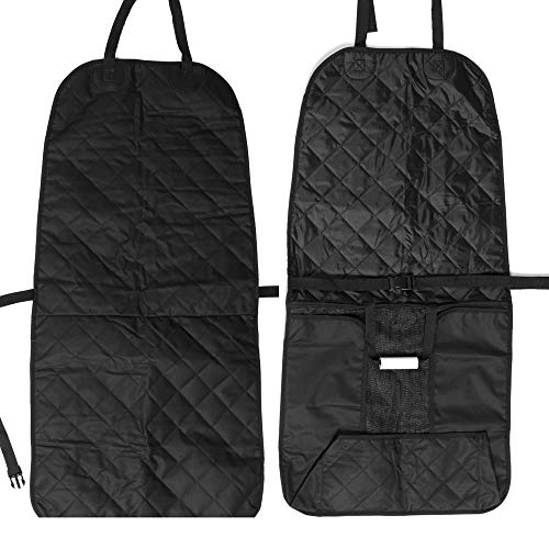 Pet Dog Car Seat Cover, Black Heavy Duty 600D Oxford, Waterproof, Scratch Proof Nonslip Quilted Padded Washable , 20 inches W x 39 inches L, Fits Most Cars Trucks and SUV's For Sale