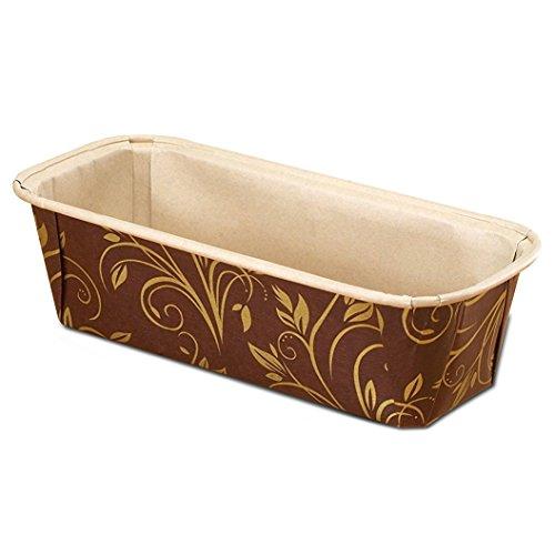 - Premium Paper Baking Loaf Pan, Perfect for Chocolate Cake, Banana Bread, Medium, Brown & Gold, Set of 30pcs - by EcoBake