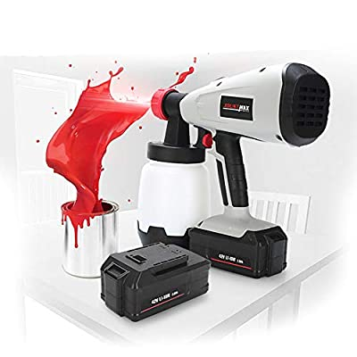 TECHLINK Fence Paint Sprayer Electric Paint Spray Gun Handheld Fine Finish Sprayers Spray Gun for Ceilings, Walls and Fence(42V)