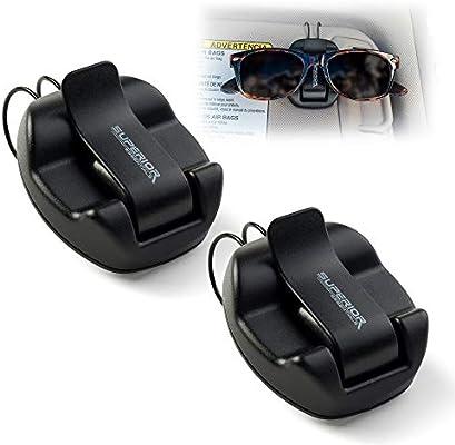 Sunglasses Car Holder Visor Clip Mount Glasses Sunvisor Strap White REDUCED...!