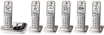 Panasonic KX-TGD223N + 3 KX-TGDA20N Handsets (6 Handsets Total) DECT 6.0 Plus Cordless Phone System (KX-TGD225N + 1, KX-TGD224N + 2, KX-TGD222N + 4, KX-TGD220N + 5) (Certified Refurbished)