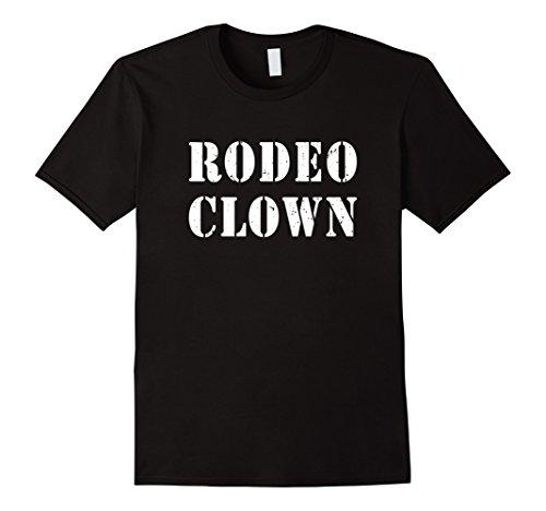Rodeo Clown Costume (Mens Rodeo Clown Halloween T-Shirt XL Black)