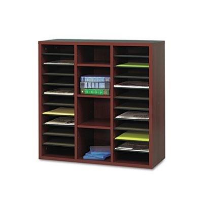 Safco - Apr?S Literature Organizer 30 X 12 X 30 Mahogany ''Product Category: Desk Accessories & Workspace Organizers/Sorters''