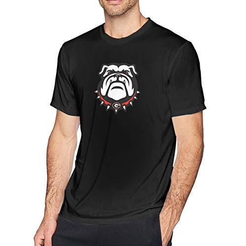 Aergaerg387 Georgia-Bulldogs Mens T-Shirt for Teenager Black 5XL