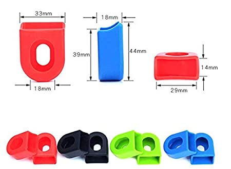 Maxbei Silicon Bicycle Crank Arm Boots Bike MTB Crank Protector Cover (2Pairs//pac)