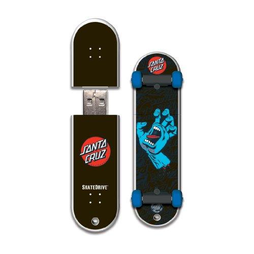 Santa Usb Flash Drive - SkateDrive Santa Cruz 16GB Screaming Hand 12 USB Flash Drive