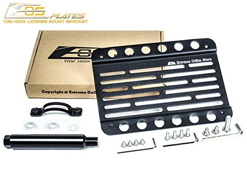 Extreme Online Store Replacement for 2018-Present Porsche 911 GT3 991 Models with NO PDC | EOS Version 1 Front Bumper Tow Hook License Plate Relocator Mount Bracket Tow-446 (Mid Size)