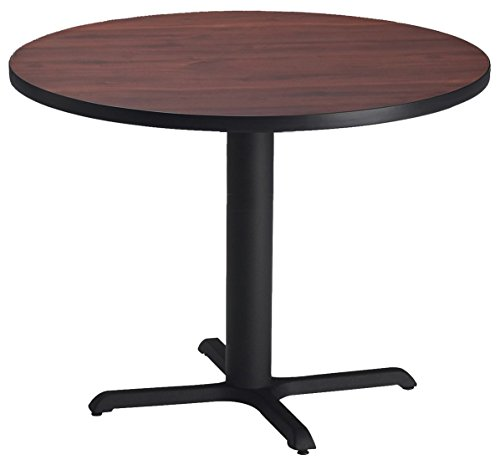 Mayline Bistro Series Round Dining Height Table with Black Base, ()