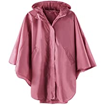 LINENLUX Rain Poncho Jacket Coat Hooded for Adults with Pockets