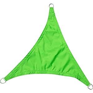 Greenbay–Protección UV Toldo triangular 5x 5x 5m–Jardín Protección Solar Transpirable sombra Toldo para balcón y Terraza (verde claro)
