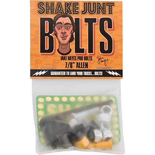 "Shake Junt Jake Hayes Allen Head Black/Orange/White Skateboard Hardware Set - 7/8"""