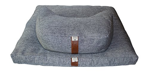 Zafu Zabuton Meditation Cushion Set -Plus Free Gift: Tote bag and Incense Holder -Price Reduced Limited Time -Modern Design -Cosmic Crescent Zafu for Comfort- No Back Pain in Meditation -Gray