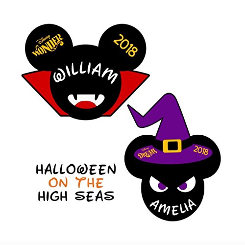 Witch Mickey Head Disney Cruise Door Magnet || Halloween Mickey Vampire Magnet || Disney Cruise Classic Mickey and Minnie Ears || Disney Cruise Magnets -