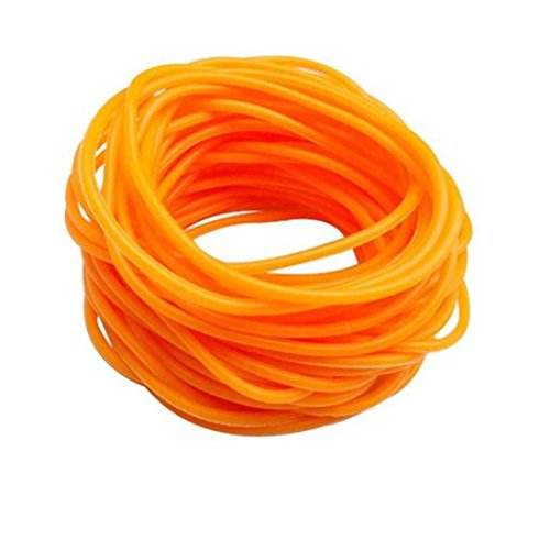 ZAKIA 25pces Mixed Gummy Silicone Wristbands Bracelets Bands Shag Rubber Gummies Bangles Wristbands (Orange) -