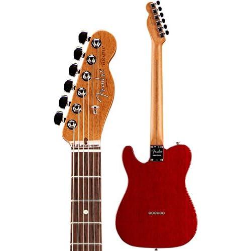2017 Ltd Edition American Pro Mahogany Tele Deluxe Shawbucker Crimson Red Transparent