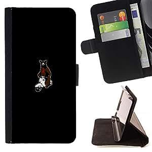 Momo Phone Case / Flip Funda de Cuero Case Cover - Hipster Bear & Scooter - Samsung Galaxy S5 Mini, SM-G800
