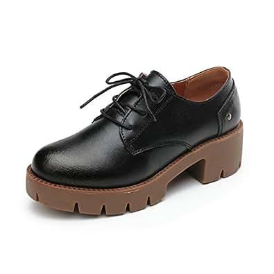 Moonwalker Zapatos de Cuero Mujer Oxford ( EUR 34,Blanco)
