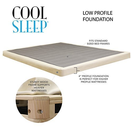 "Lifetime sleep products 4"" Low Profile Box Spring great for"