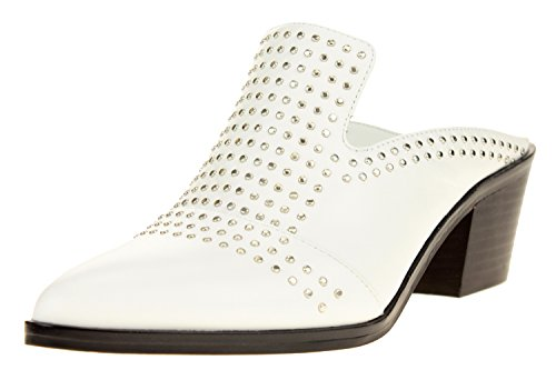 1.State Women's Lon Studded Slip-On Mule, Color Variation White