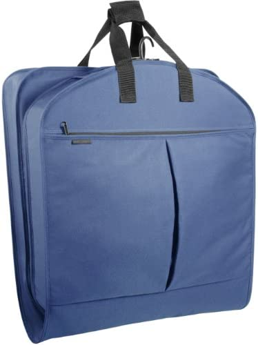 """WallyBags 52"""" Extra Capacity Garment Bag with Pockets, Navy, 52 inch"""