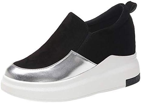 LuckyGirls Cuñas Zapatos de Guisantes para Mujer Zapatillas Casual Calzado de Planos Informales Zapatos para Perezoso Náuticos Mocasines Aumento Interno 2.5 ...