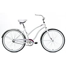 Mantis Dahlia Cruiser Bike, 26 inch Wheels, 18 inch Frame, Women's Bike, White