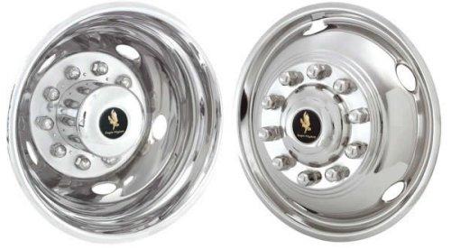 19.5'' Stainless Steel Wheel Simulators for 2005-2012 Ford F450 & F550 10 Lug Dual Wheel