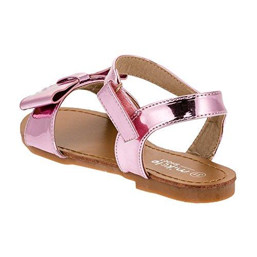 Mikelo Modische Kinder Mädchen Sandaletten Sandalen Lackoptik M353rs Rosa
