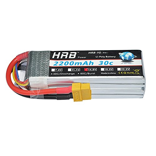 Falcon 3d Rc Helicopter - HRB 4S 14.8V 2200Mah 30C RC LiPo Battery Pack with XT60 Plug for RC Airplane Helicopter Quadcopter Vehicle Boat