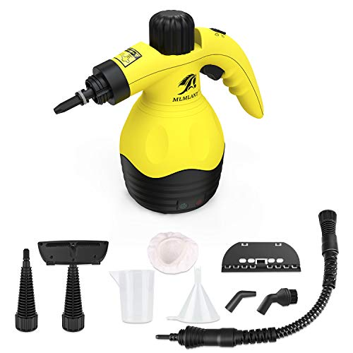MLMLANT [Upgrade] Handheld Pressurized Steam Cleaner with 9-Piece Accessory Set - Multi-Purpose and Multi-Surface All Natural, Chemical-Free Steam Cleaning for Home, Auto, Patio, More (New one)