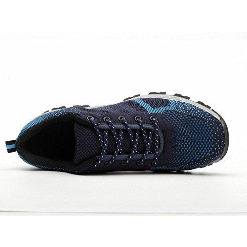Style COOU Uomo di Sportive Lavoro Donna 2 Comodissime da Unisex Blue Scarpe Scarpe Antinfortunistiche Acciaio Sicurezza Scarpe Punta in s3 con rEqZyUrA